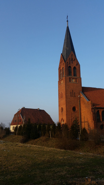 Jezioro - kościół